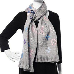 Louis Vuitton Rainbow Logomania Scarf Wool & Silk